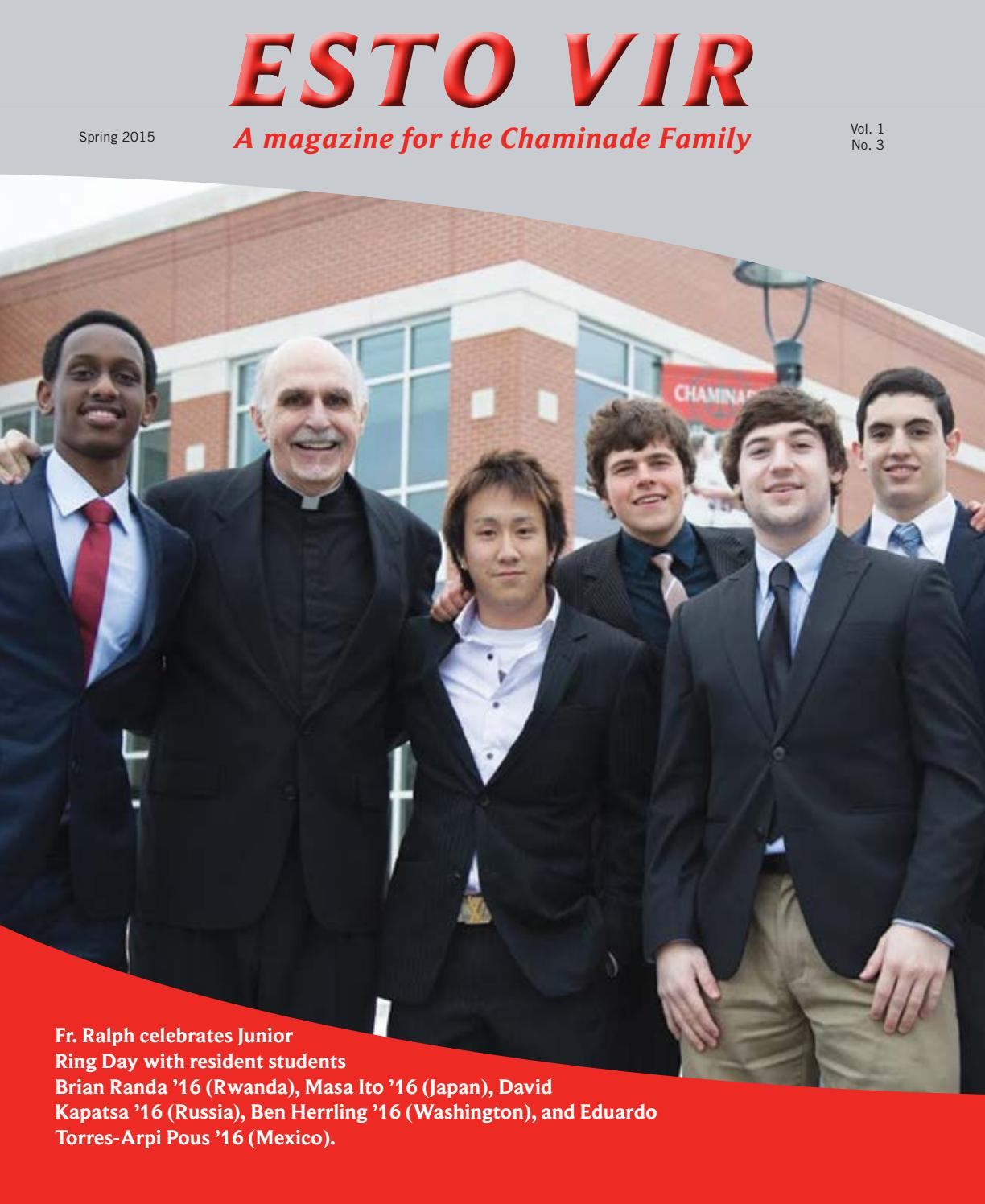 Evmag spring 2015 by Chaminade College Preparatory School