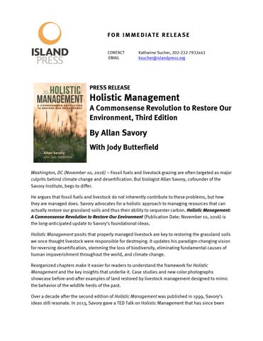 holistic management third edition a commonsense revolution to restore our environment