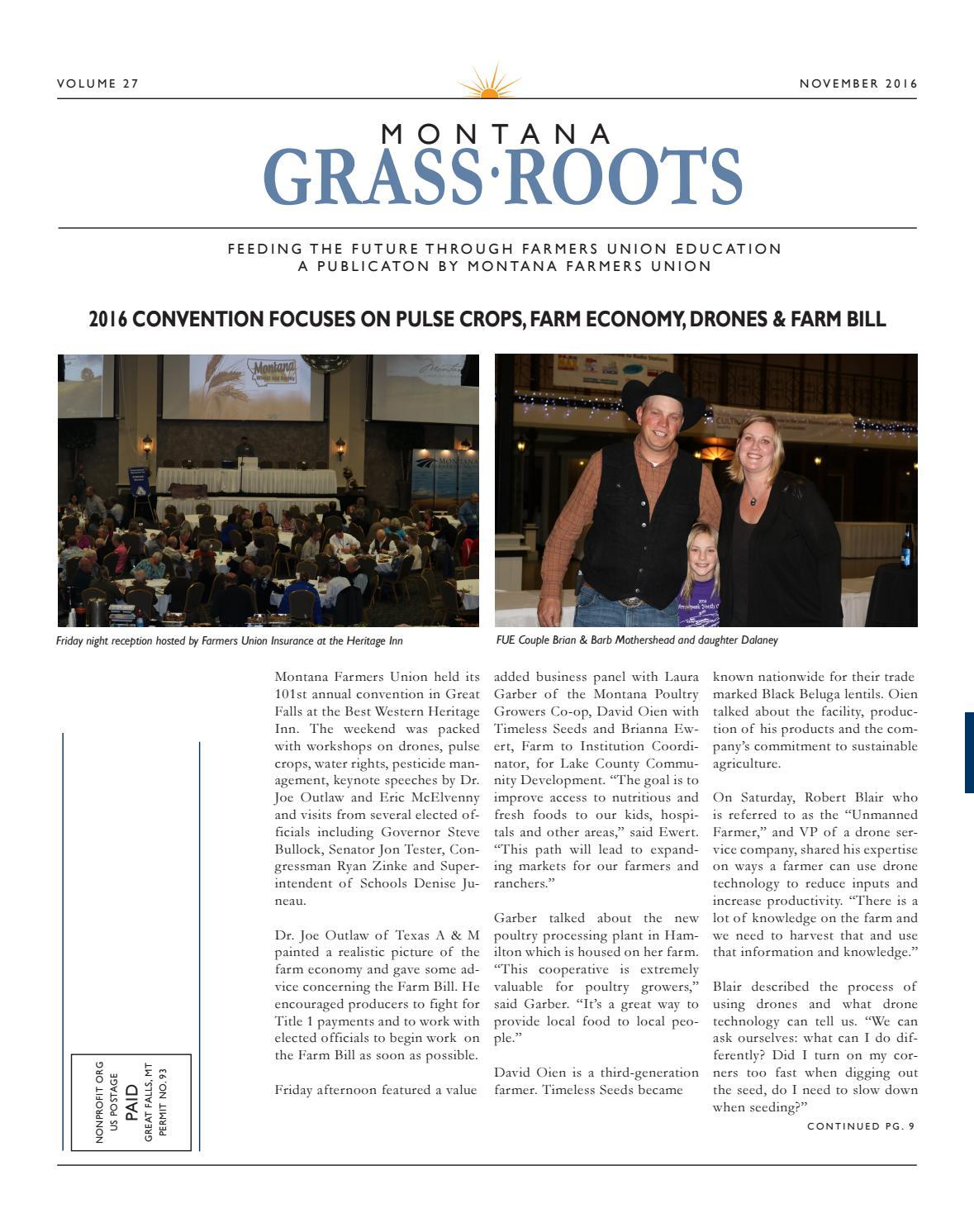 2016 November edition of Montana Grassroots by Montana