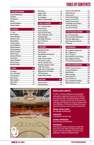 2016-17 Oklahoma Men's Basketball Media Guide by OU Athletics - issuu