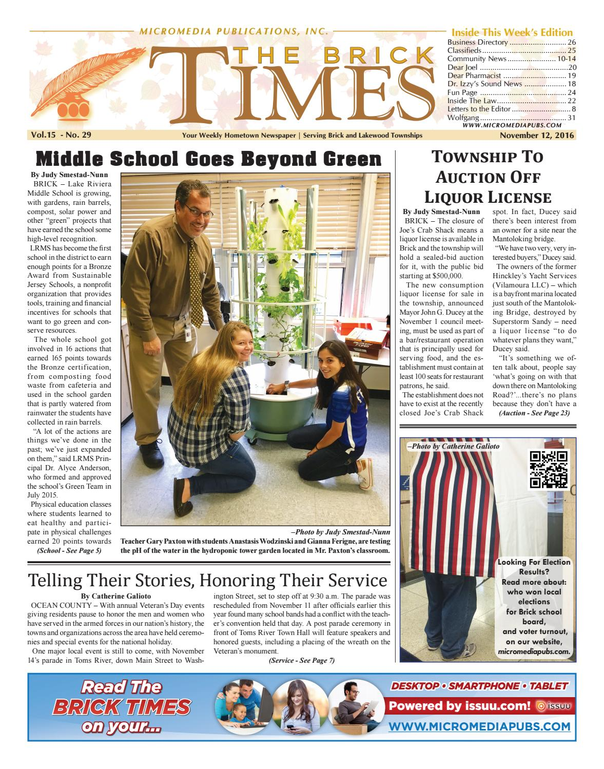 2016-11-12 - The Brick Times by Micromedia Publications - issuu