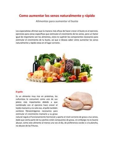 como aumentar los senos naturalmente y rápido - alimentos para