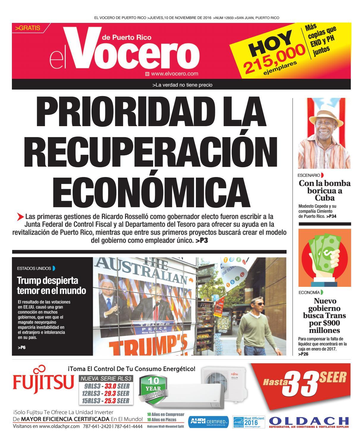 cheap for discount ba690 633c6 Edición 10 de Noviembre 2016 by El Vocero de Puerto Rico - issuu