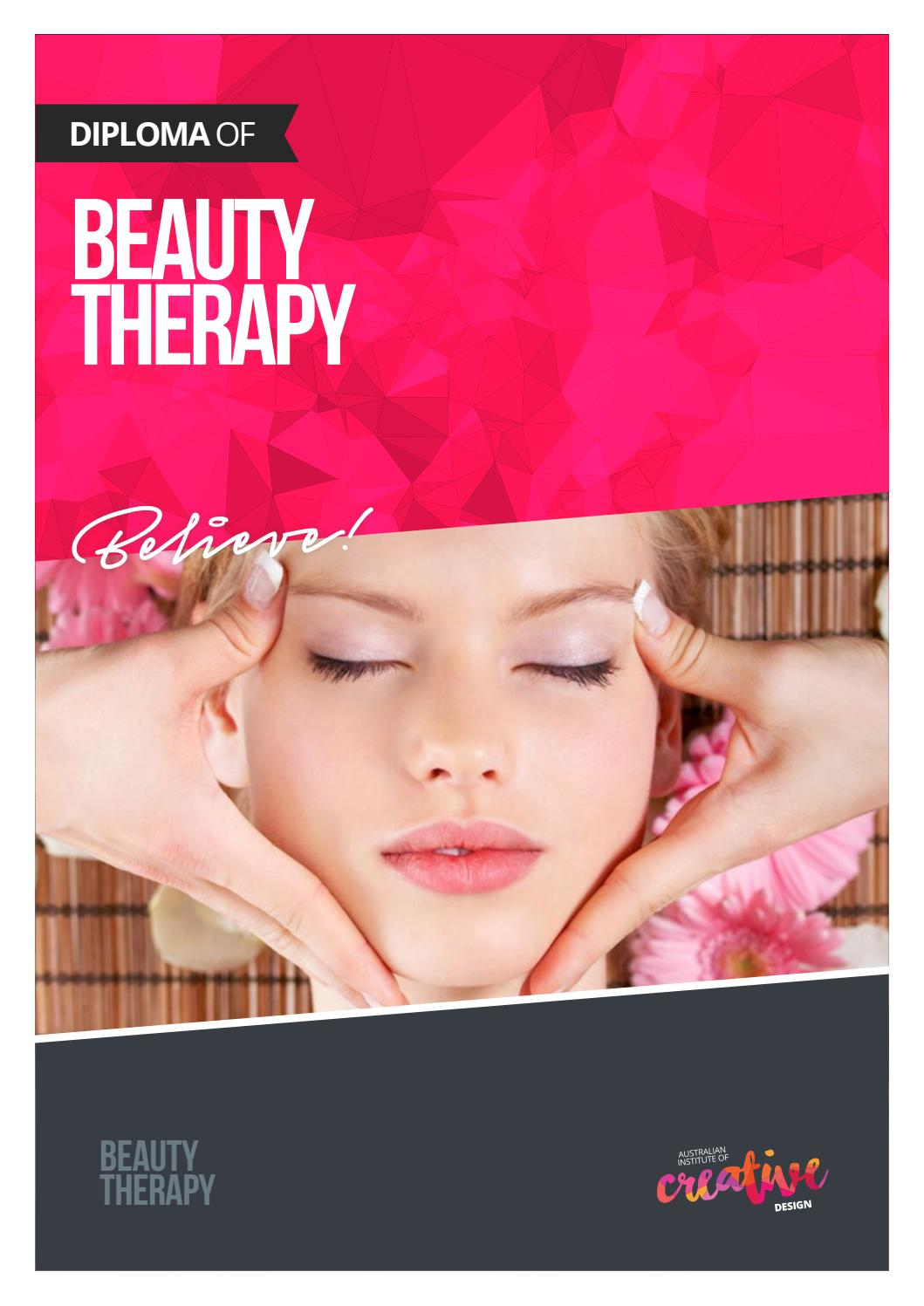 Diploma Of Beauty Therapy By Australian Institute Of Creative Design Issuu