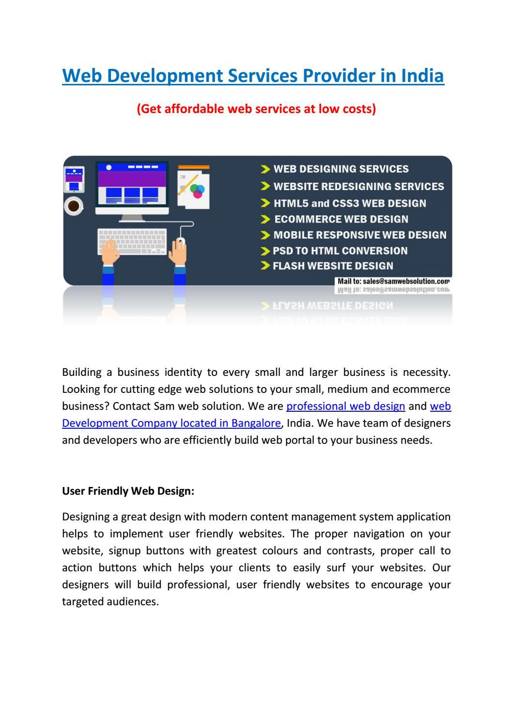 Web Development Services Provider In India By Web Design Company Seo Company Issuu