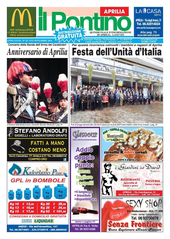 online retailer bc3b9 e94a0 Il Pontino Aprilia - Anno XXVII - N.19 - 9 22 Novembre 2016 by Il  Pontino Il Litorale - issuu