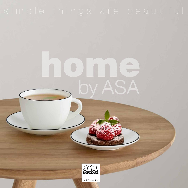 Asa Selection ligne noire pâtes-Soupes-Assiette ligne noire fine bone china