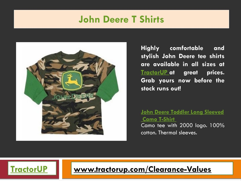 John Deere Boys Long Sleeve Poly Tee Camo