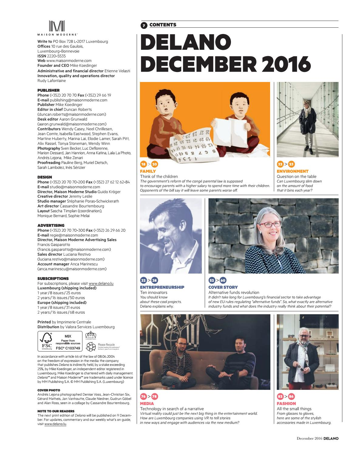 Delano December 2016 By Maison Moderne Issuu