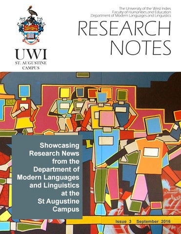 Research Notes Issue 3 - September 2016 by UWI St Augustine - issuu