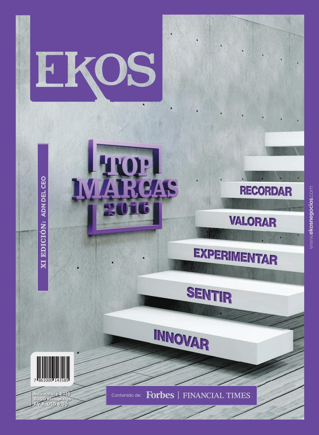 pretty nice c7f13 7ffe1 Revista Ekos - Top Marcas 2016 by Ekos - issuu