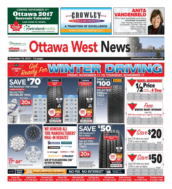 Ottawawest111016 by Metroland East - Ottawa West News - issuu