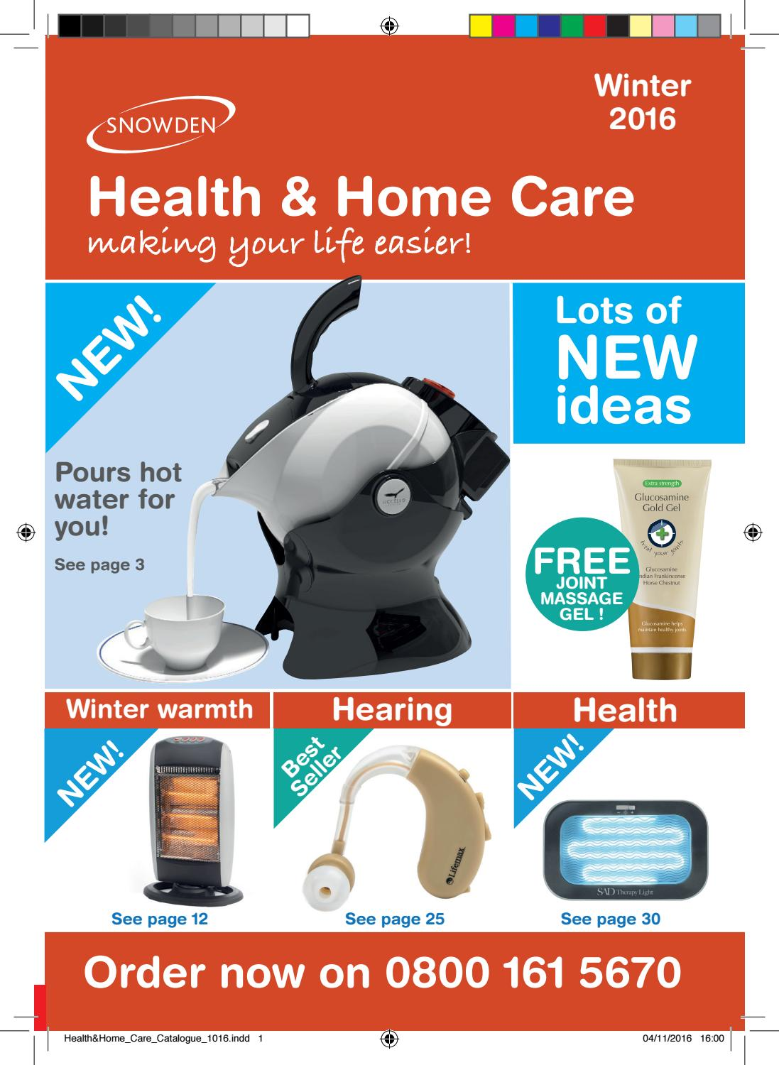 Snowden Health & home care catalogue by Snowden Healthcare - issuu