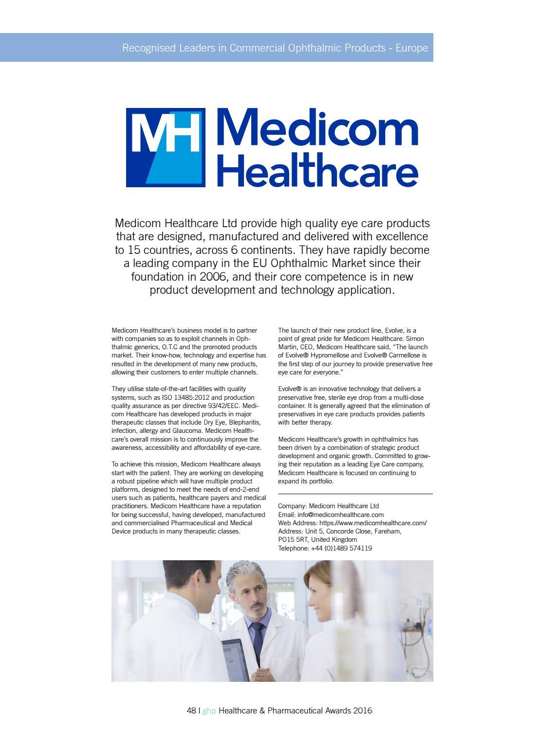 2016 Healthcare & Pharmaceutical awards by AI Global Media