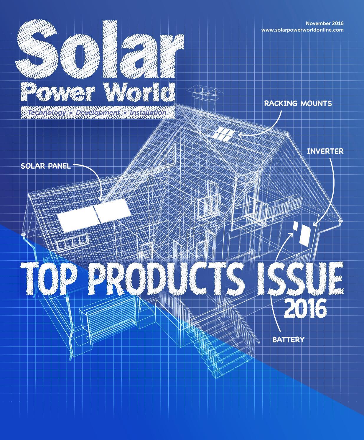 Solar Power World November 2016 By Wtwh Media Llc Issuu Home Telephone Wiring Diagram Likewise Diy Panel System