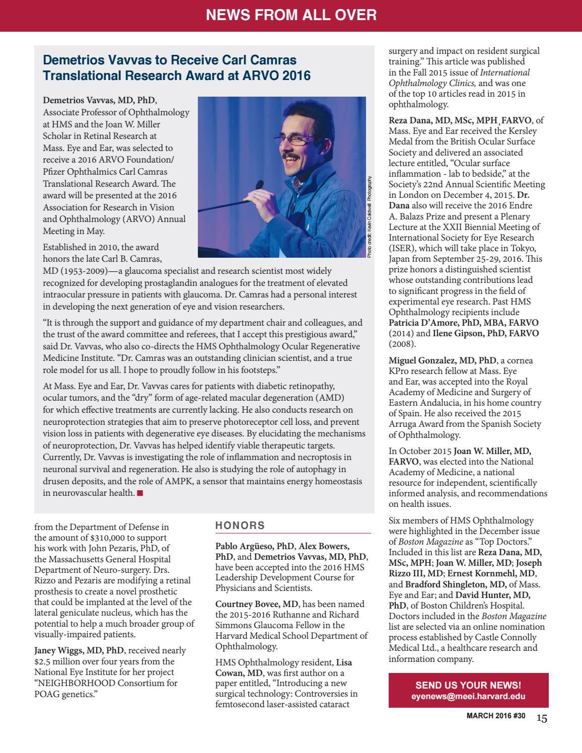 Eyewitness Newsletter #30 by Harvard Medical School Department of