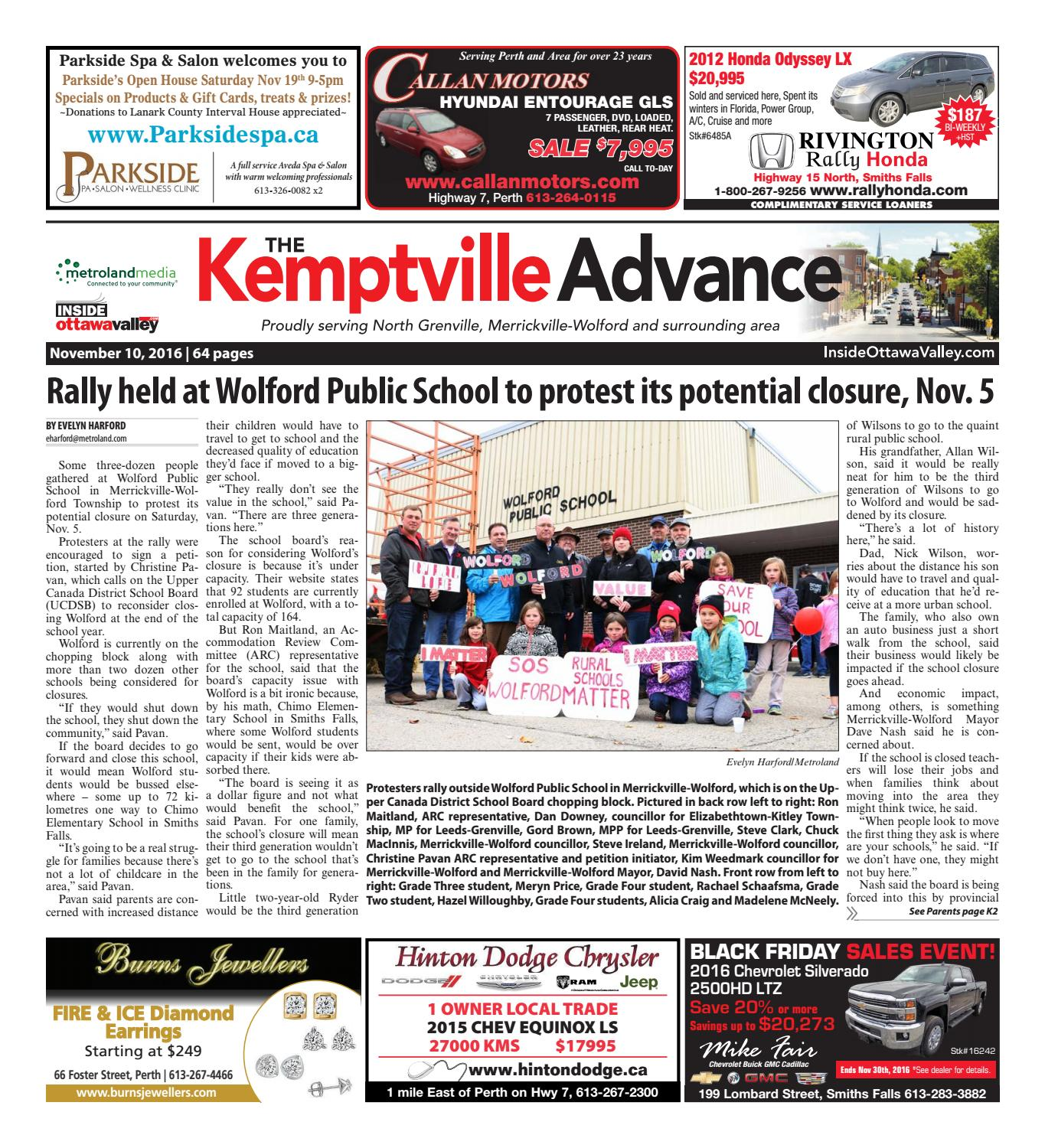 Kemptville111016 By Metroland East Kemptville Advance Issuu Alexandre Christie Ac 6448 Md Silver Black Rose Gold