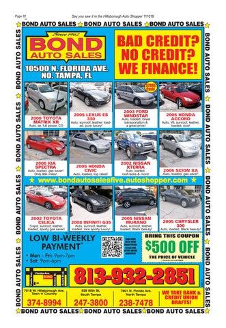 No Credit Auto Sales >> Autoshopper Hillsborough Florida By Autoshopper Com Issuu