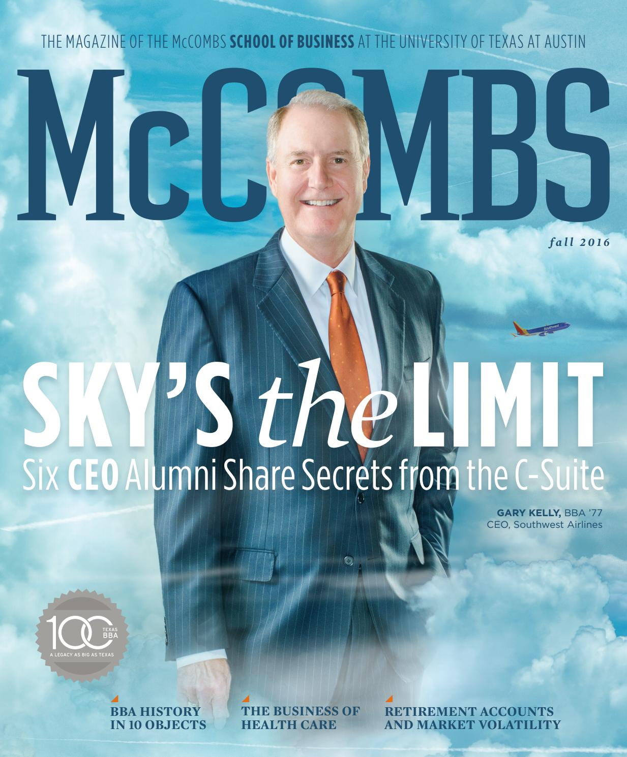 McCombs Magazine Fall 2016 By School Of Business