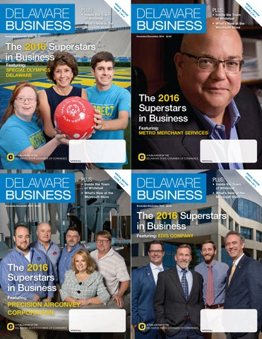 Delaware Business Magazine - November/December 2016 - Superstars in Business