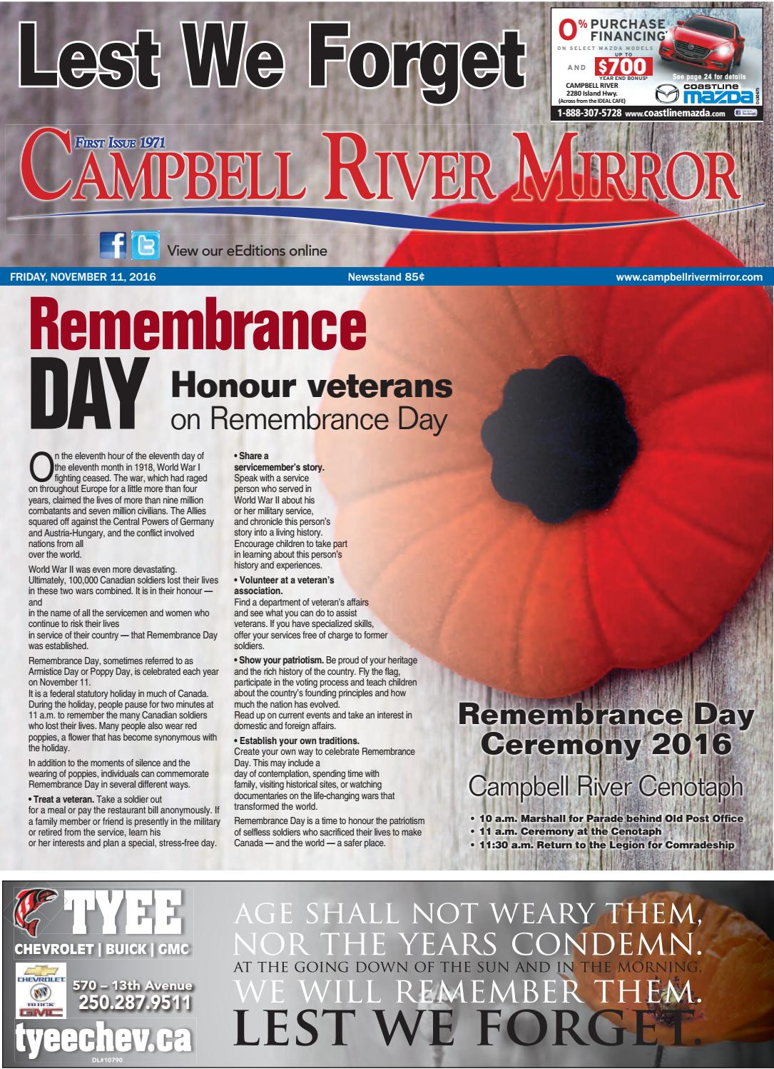 Campbell River Mirror, November 11, 2016 by Black Press