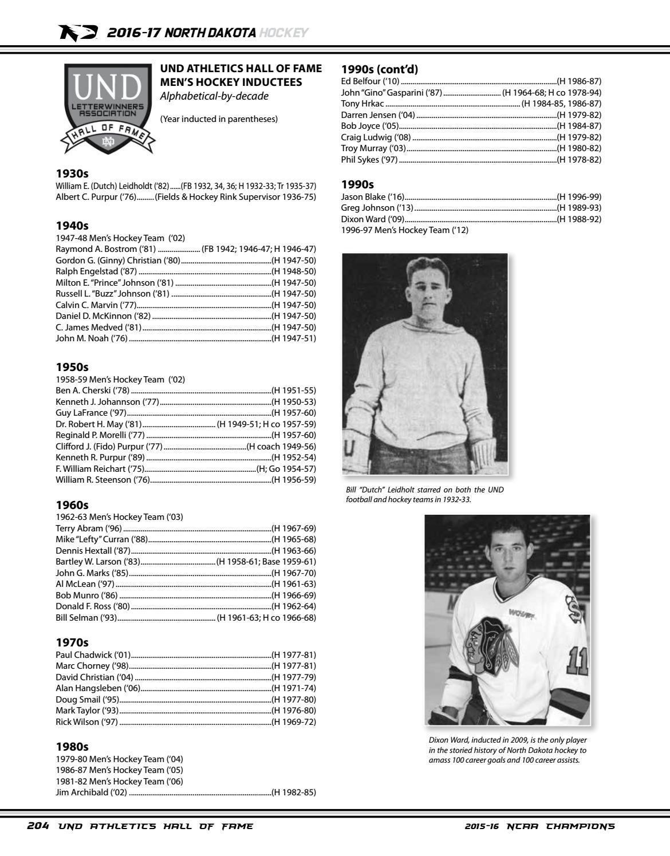 2016 17 Und Men S Hockey Media Guide By University Of North Dakota