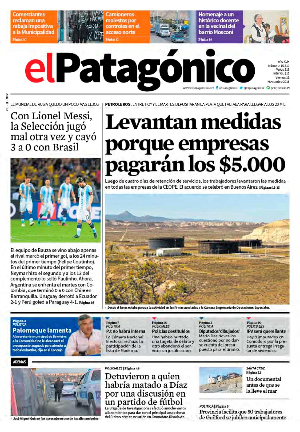 edicion232610112016.pdf by El Patagonico - issuu de043d9c17949