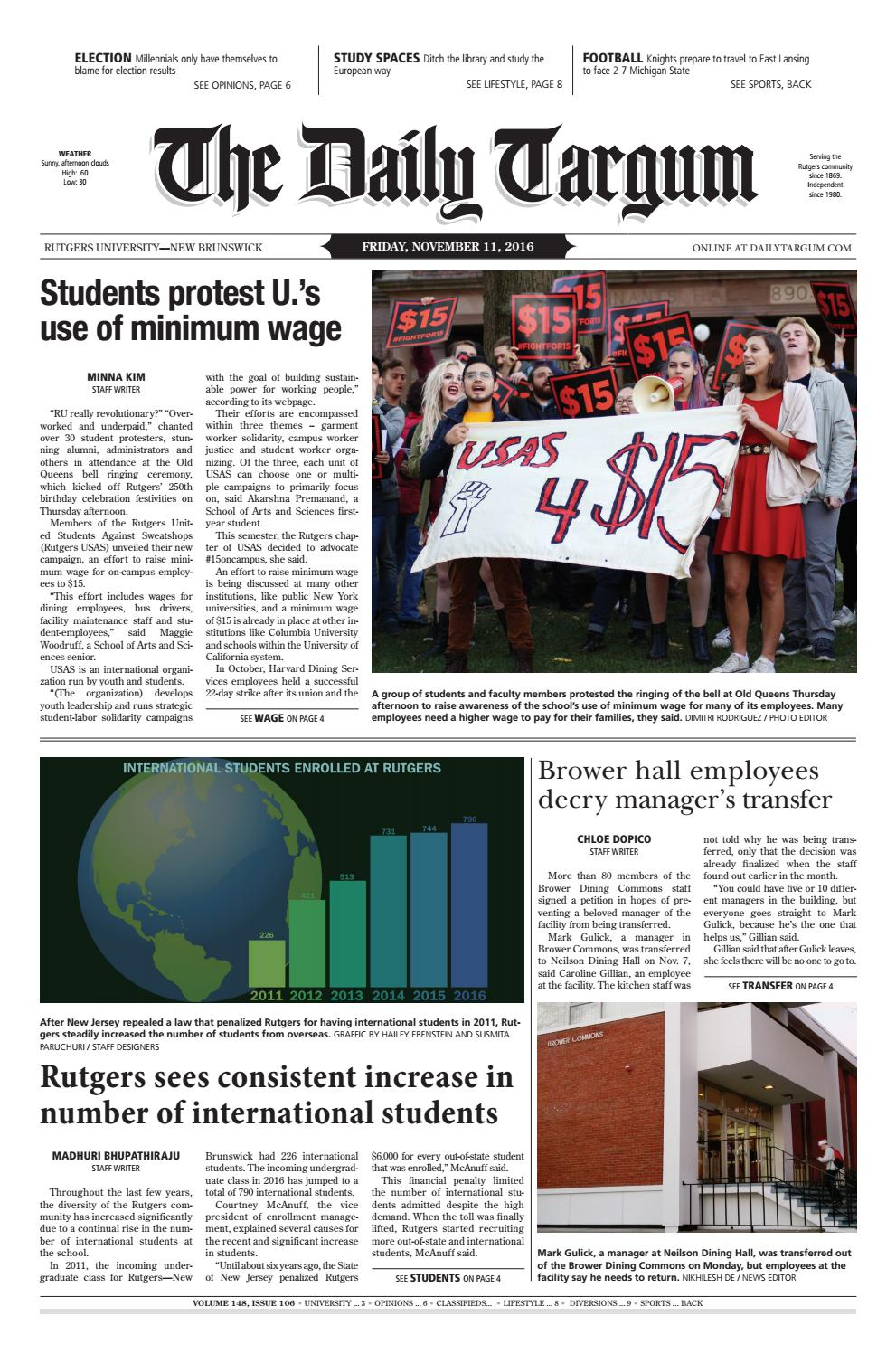 The Daily Targum 2016-11-11 by The Daily Targum - issuu 433343159
