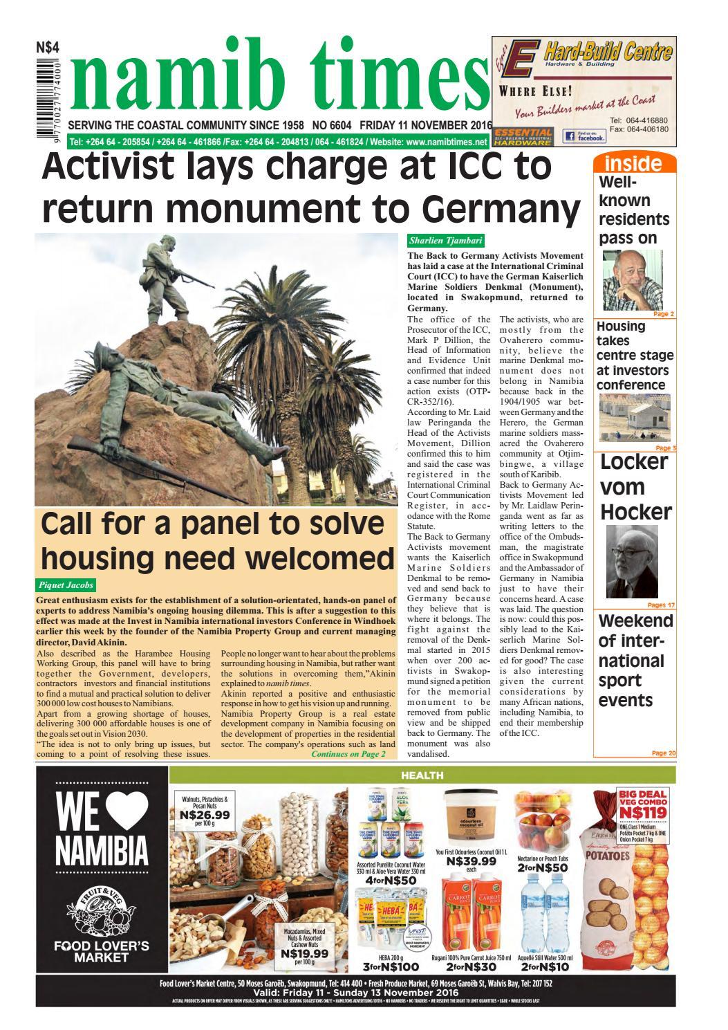 11 november namib times e edition by Namib Times Virtual - issuu
