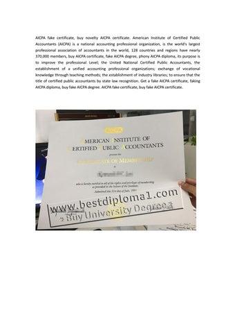 AICPA Fake Certificate Mill Buy Degree
