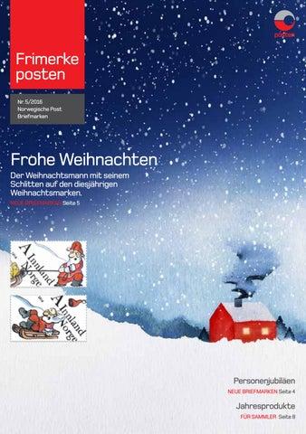 Frohe Weihnachten Norwegisch.Norwegische Post Briefmarken Info Blatt 5 2016 By Posten Norge As