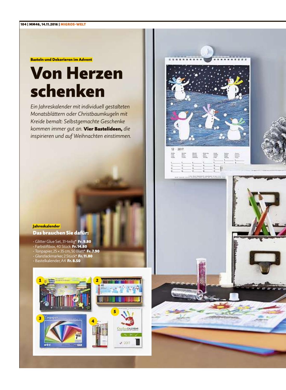 Christbaumkugeln 25 Cm.Migros Magazin 46 2016 D Zh
