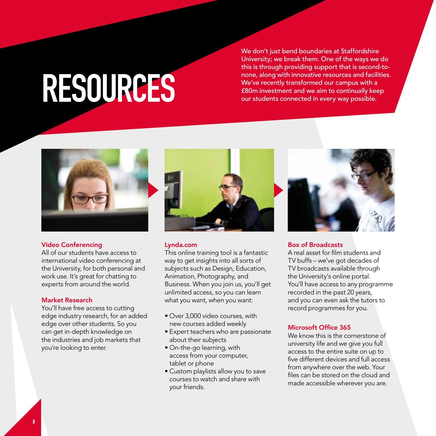 Staffordshire University PG Prospectus Oct 2016 by