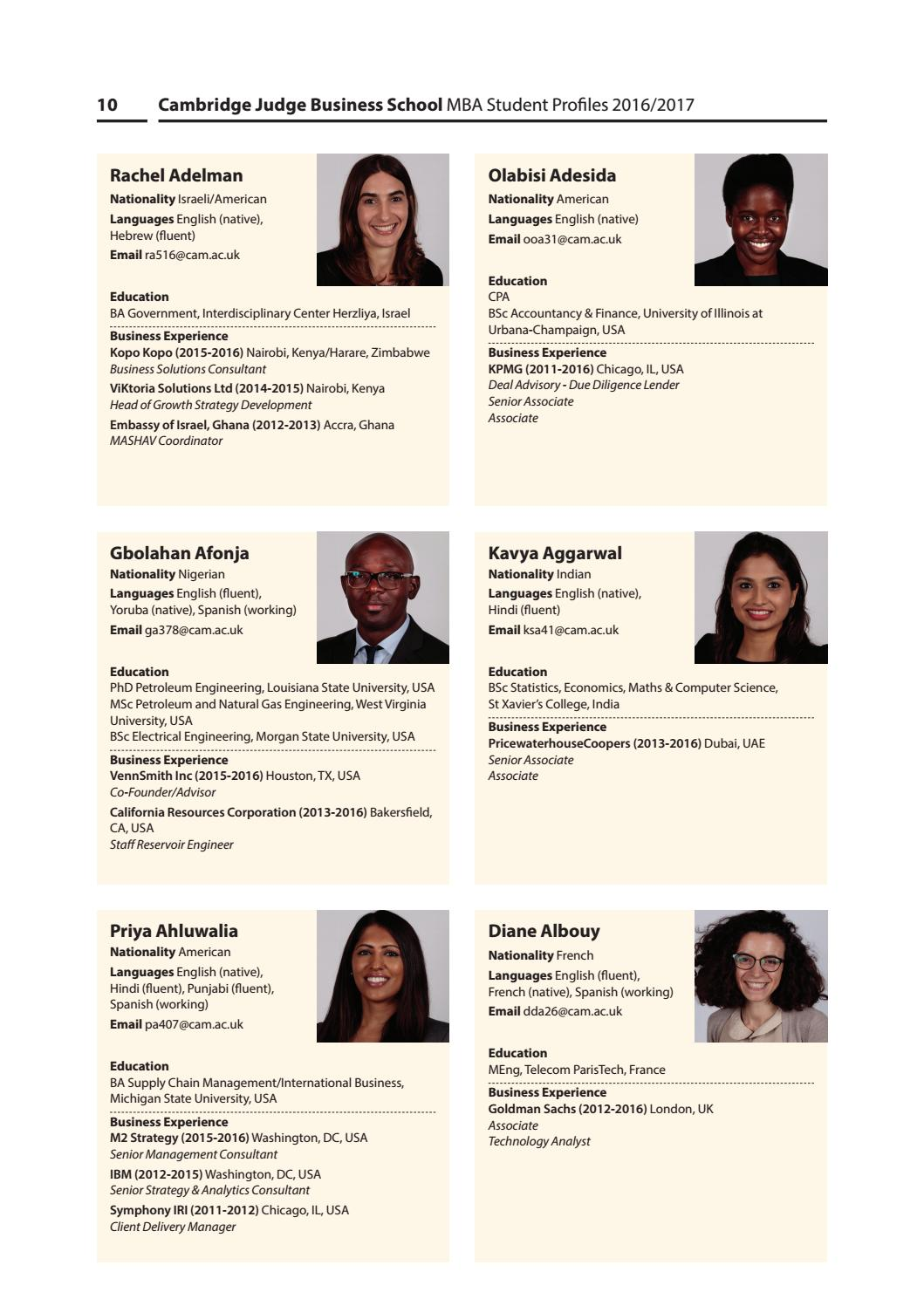 Mba profiles 2016 pr6 hi res by HSAG Communications trials - issuu