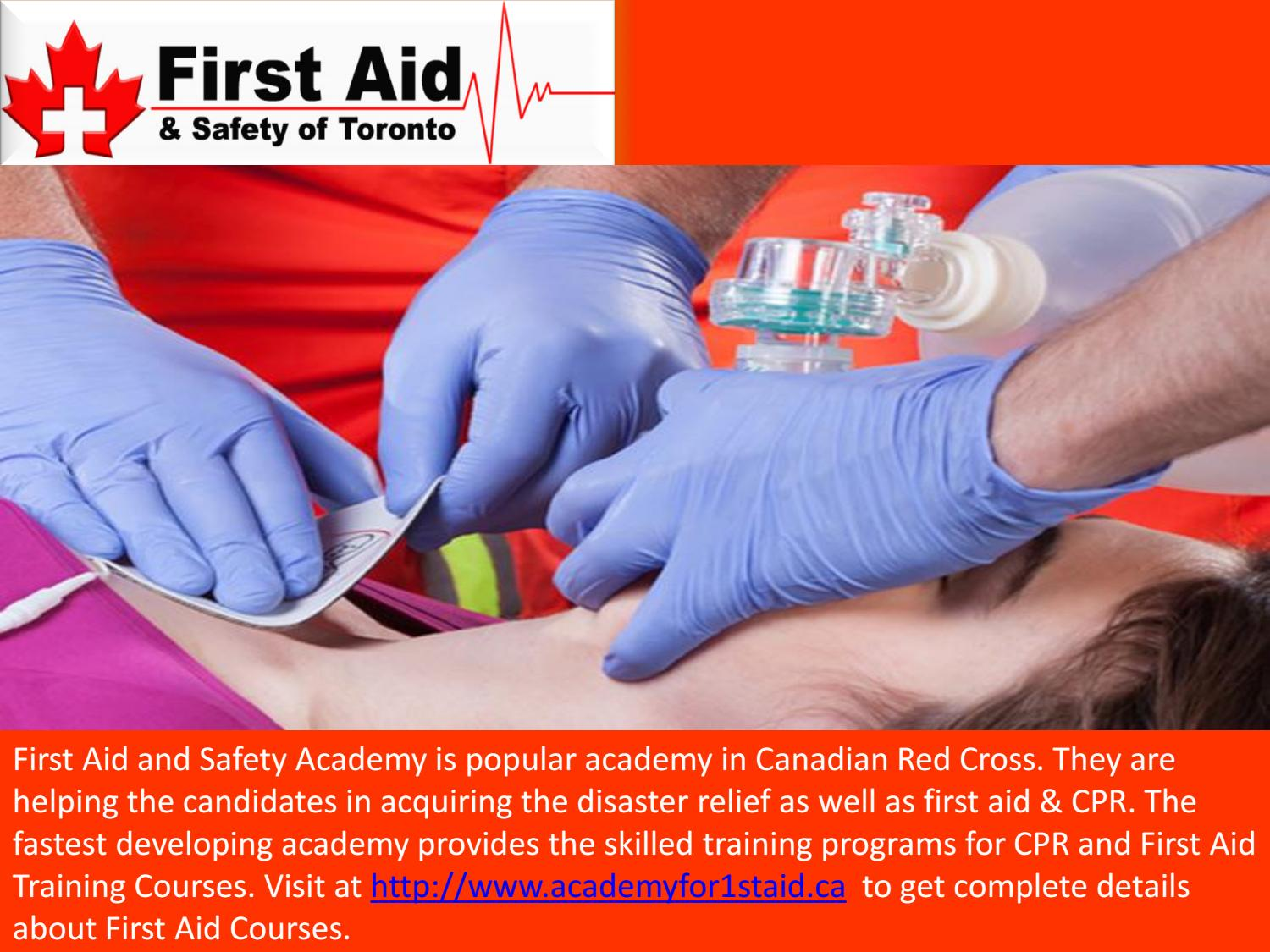 Get Cpr Training At First Aid And Safety Academy Toronto By The