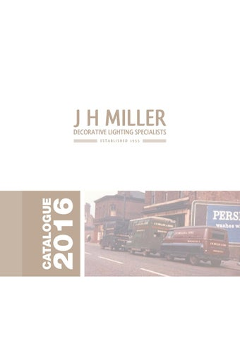 Jh Miller Lighting Catalogue 2017 By