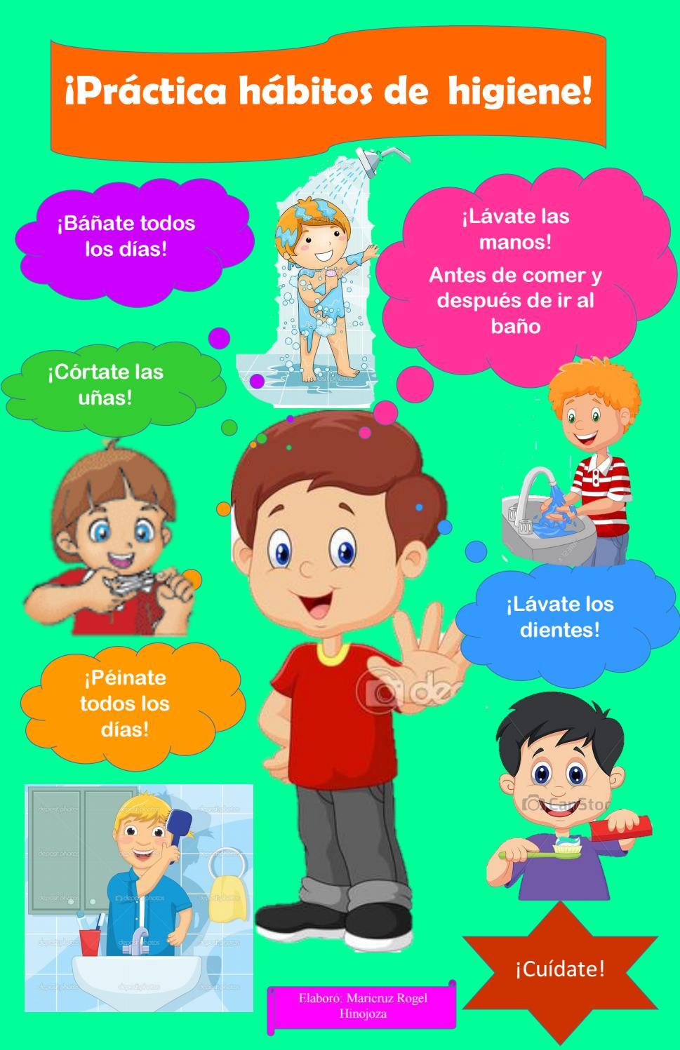 Cartel h bitos de higiene by maricruz issuu - Trucos para ir al bano todos los dias ...