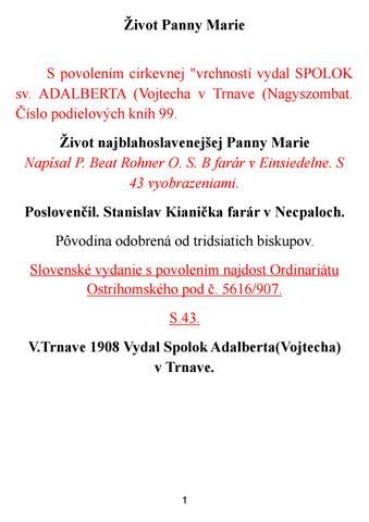 adbfa4d8a4 Život Panny Márie 1908 by Pravy Katolik - issuu