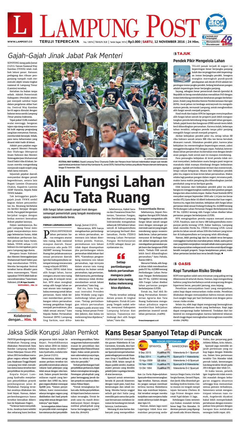 Lampung Post Sabtu 12 November 2016 By Issuu Tcash Vaganza 28 Produk Ukm Bumn Topi Batik