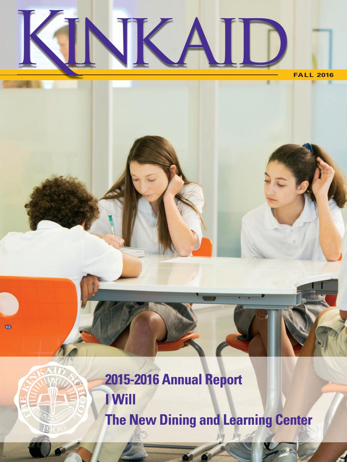 Kinkaid Fall Magazine 2016 by The Kinkaid School - issuu