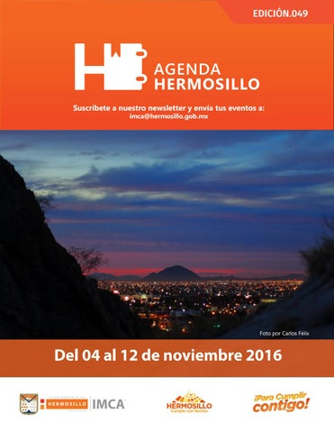 "Cover of ""Agenda Hermosillo 04 nov 2016"""