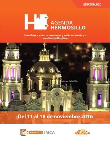 "Cover of ""Agenda Hermosillo 11 nov 2016"""