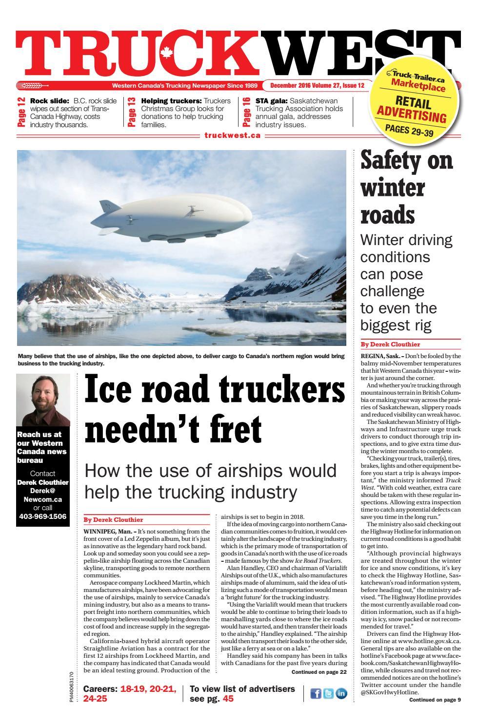 Truck West December 2016 by Annex Business Media - issuu