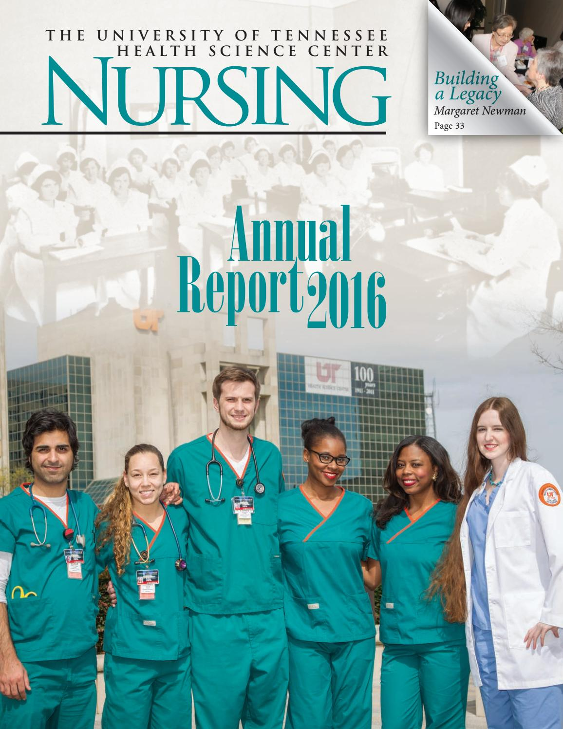 Nursing Annual Report 2016 by University of Tennessee Health