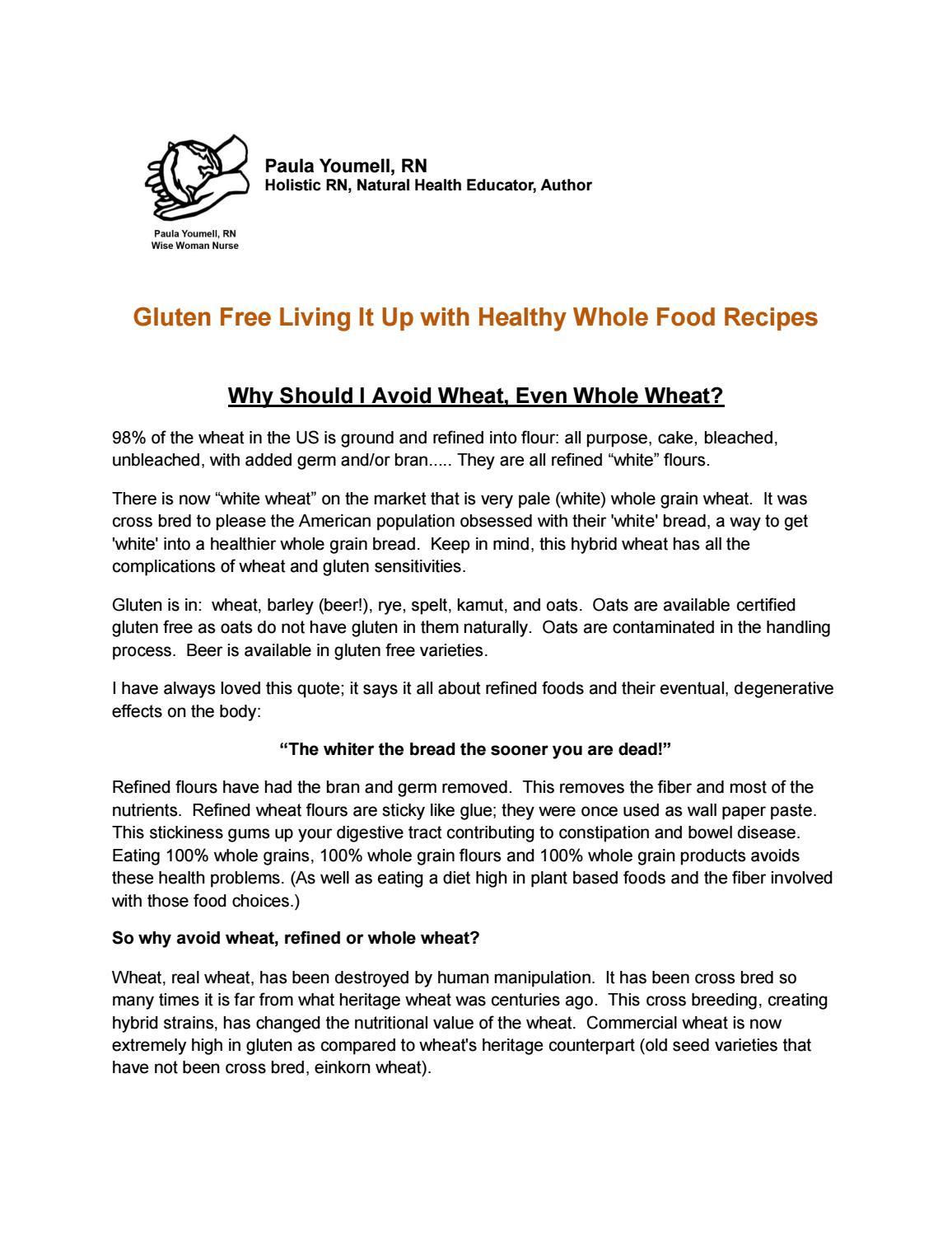 Gluten Free Recipes by Paula Youmell, RN, Wise Woman Nurse