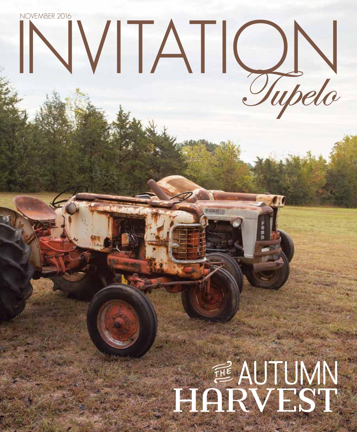 Invitation Tupelo - November 2016 by Invitation Magazines - issuu