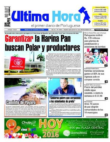 5c25fc517f06 Edición 12 11 2016 by Ultima Hora - El primer diario de Portuguesa ...