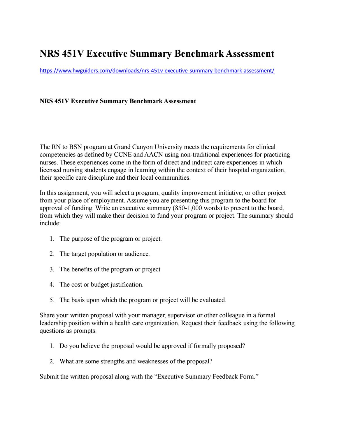 "executive summary benchmark assessment Executive summary (benchmark assessment ) essay sample hospital acquired pressure ulcers (hapus) prevention ""hospital-acquired pressure ulcers were shown to be an important risk factor associated with mortality,"" per dr courtney lyder, of the ucla school of nursing."