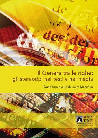 Il Genere tra le righe  gli stereotipi nei testi e nei media Quaderno a  cura di Laura Moschini 03e672f8469