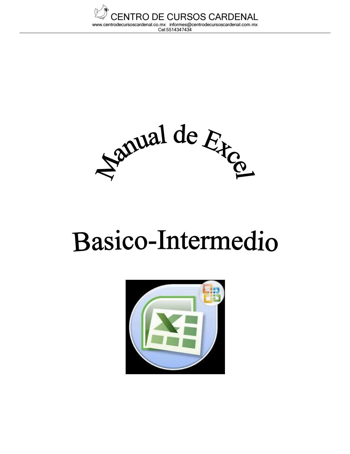 Manual excel basico inermedio actual 07 by Cursos Cardenal - issuu